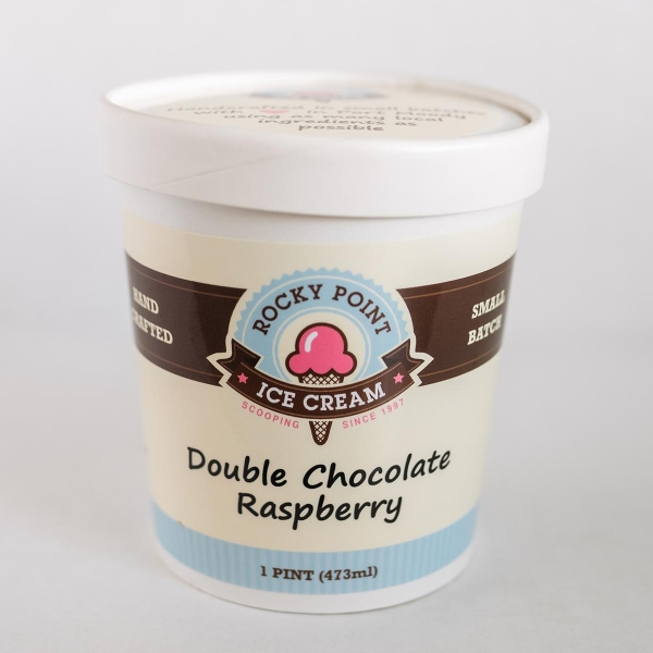 Double Chocolate Raspberry Ice Cream